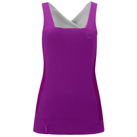 Salomon Whisper II Twinskin Tank Top - Built-In Sports Bra (For Women) in Celadon/Dark Bay Blue