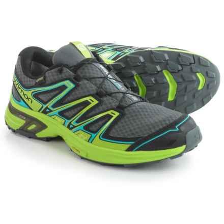Salomon Wings Flyte 2 Gore-Tex® Trail Running Shoes - Waterproof (For Men) in Dark Cloud/Granny Green/Scuba Blue - Closeouts