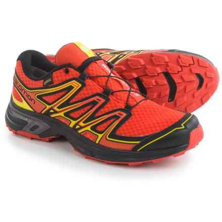 Salomon Wings Flyte 2 Gore-Tex® Trail Running Shoes - Waterproof (For Men) in Lava Orange/Black/Corona Yellow - Closeouts