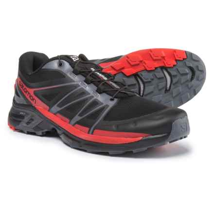 Salomon Wings Pro 2 Trail Running Shoes (For Men) in Black/Dark Cloud/Radiant Red - Closeouts