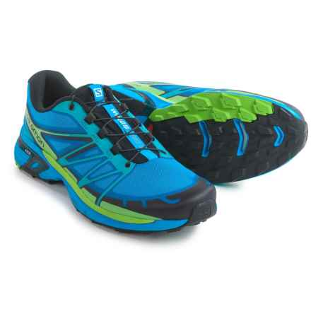 Salomon Wings Pro 2 Trail Running Shoes (For Men) in Blue/Black/Tonic Green - Closeouts
