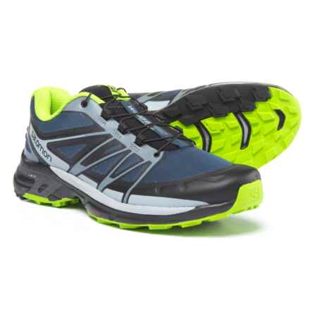 Salomon Wings Pro 2 Trail Running Shoes (For Men) in Slate Blue/Light Onyx/Granny Green - Closeouts