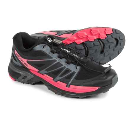 Salomon Wings Pro 2 Trail Running Shoes (For Women) in Black/Cloud/Madder Pink - Closeouts