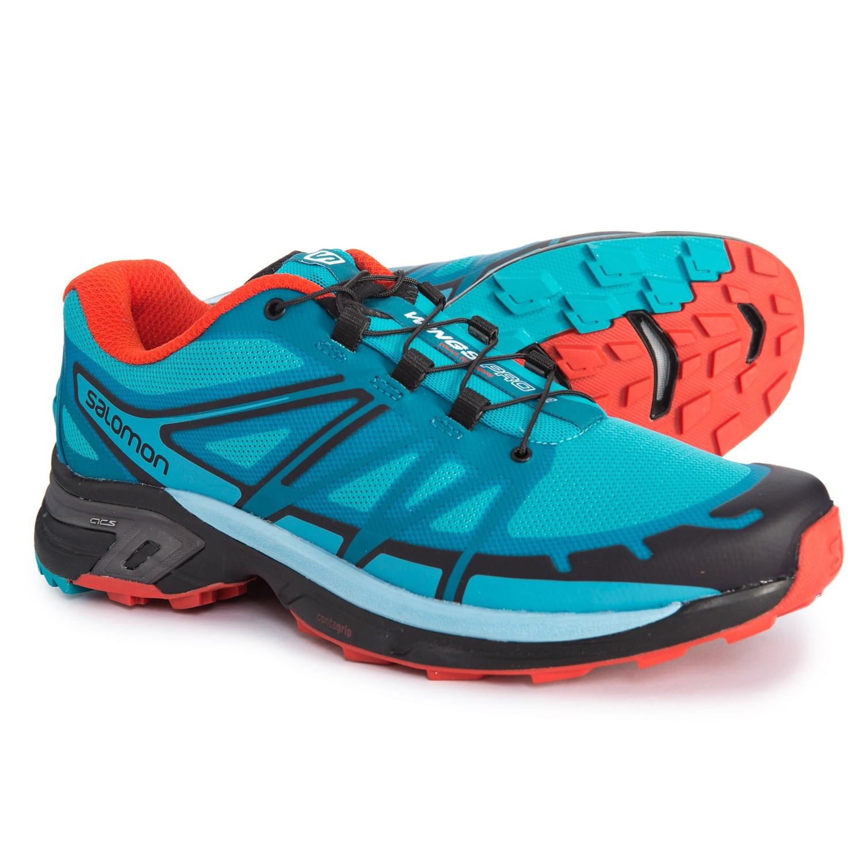 0d0abd6f1242 Salomon Wings Pro 2 Trail Running Shoes (For Women) in Blue Jay Fog