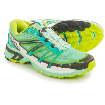 Salomon Wings Pro 2 Trail Running Shoes (For Women) in Lucite Green/Bubble Blue/Gecko Green