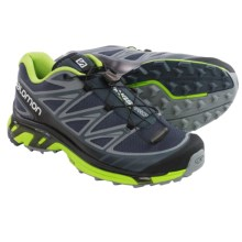 Salomon Wings Pro Trail Running Shoes (For Men) in Grey Denim/Pearl Grey/Granny Green - Closeouts