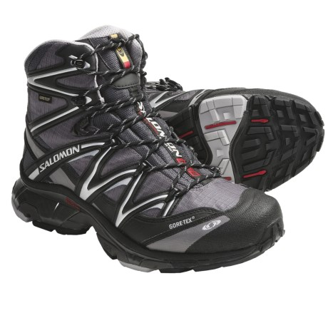Salomon Wings Sky Gore-Tex® Hiking Boots - Waterproof (For Men) in Orange/Black/Asphalt