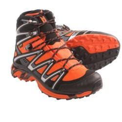 Salomon Wings Sky Gore-Tex® Hiking Boots - Waterproof (For Men) in Orange/Black/Asphalt