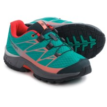 Salomon Wings Trail Running Shoes (For Big Kids) in Teal Blue F/Dark Cloud/Melon Bloom - Closeouts