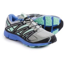 Salomon X-Mission 2 Trail Running Shoes (For Women) in Light Onix/Petunia Blue/Igloo Blue - Closeouts