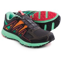 Salomon X-Mission 3 Trail Running Shoes (For Women) in Autobahn/Lucite Green/Orange Feeling - Closeouts