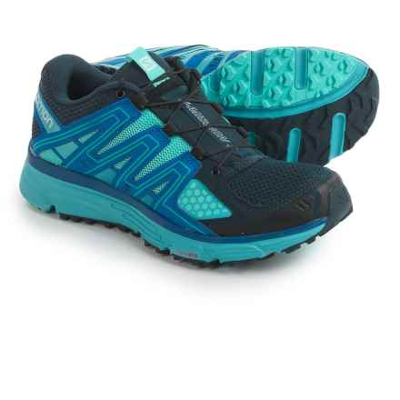 Salomon X-Mission 3 Trail Running Shoes (For Women) in Deep Blue/Bubble Blue/Cobalt - Closeouts