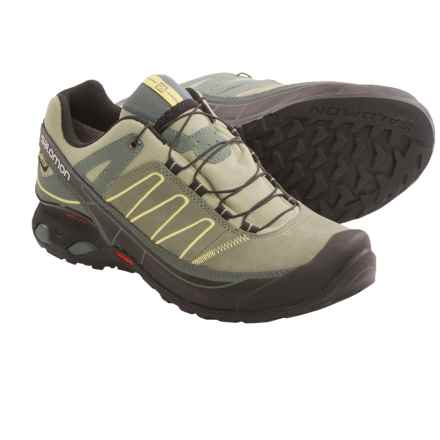 Salomon X Over LTR Gore-Tex® Hiking Shoes - Waterproof (For Women) in Light Titanium/Green Clay/Pastis - Closeouts