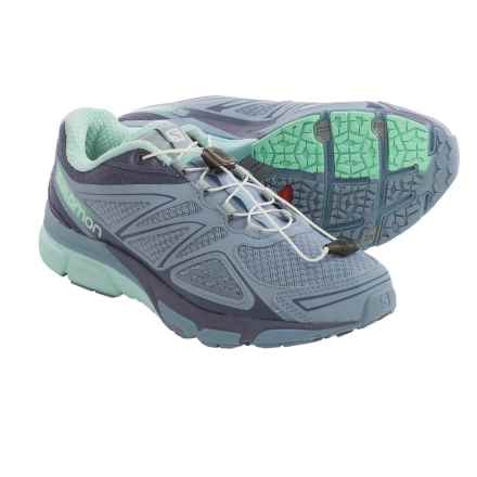 Salomon X-Scream 3D Trail Running Shoes (For Women) in Stone Blue/Artist Grey-X/Lucite Green - Closeouts