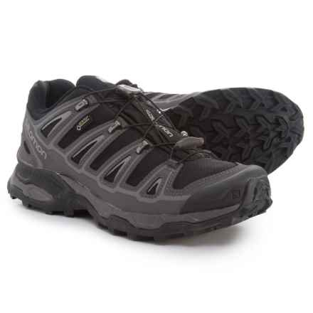 Salomon X Ultra 2 Gore-Tex® Hiking Shoes - Waterproof (For Men) in Black/Autobahn/Pewter - Closeouts