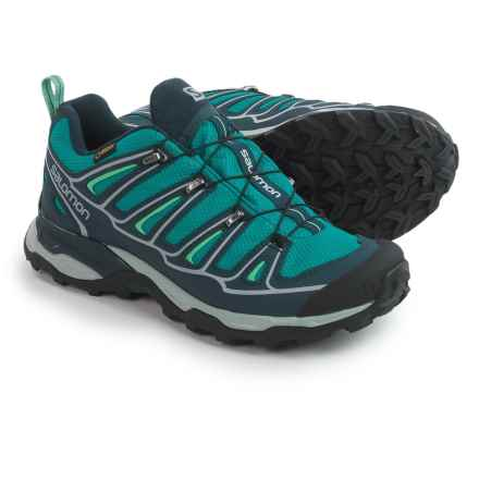Salomon X Ultra 2 Gore-Tex® XCR® Trail Shoes - Waterproof (For Women) in Peacock Blue/Black/Lucite Green - Closeouts