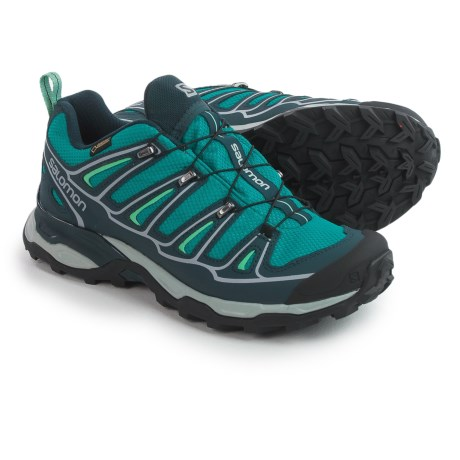 Salomon X Ultra 2 Gore-Tex® XCR® Trail Shoes - Waterproof (For Women) in Peacock Blue/Deep Blue/Lucite Green