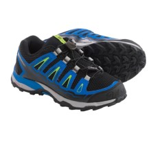 Salomon X-Ultra-J Hiking Shoes (For Big Kids) in Black/Union Blue/Granny Green - Closeouts