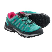 Salomon X-Ultra-J Hiking Shoes (For Big Kids) in Topaz Blue/Peacock Blue/Hot Pink - Closeouts
