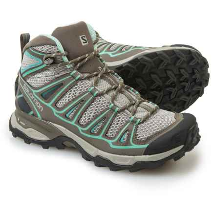 Salomon X Ultra Mid Aero Hiking Boots (For Women) in Titanium/Swamp/Opaline - Closeouts
