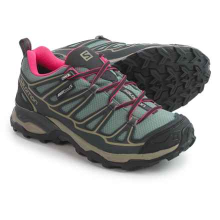 Salomon X Ultra Prime Climashield® Trail Running Shoes - Waterproof (For Women) in Titanium/Asphalt/Hot Pink - Closeouts