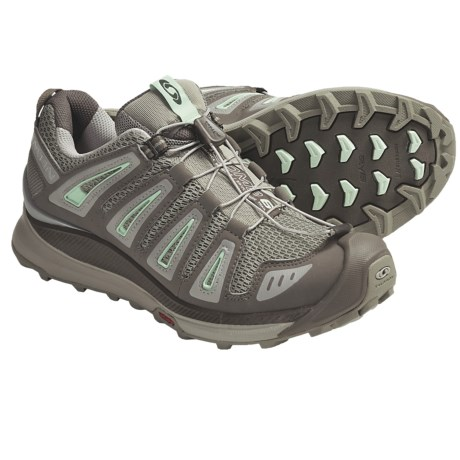 Salomon XA Comp 6 Trail Running Shoes (For Women) in Dark Titanium/Swamp/Misty Jade