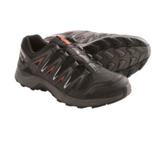 Salomon XA Comp 7 Climashield® Trail Running Shoes - Waterproof (For Men) in Black/Autobahn/Red - Closeouts