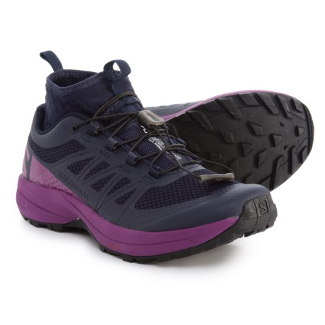 Salomon XA Enduro Trail Running Shoes (For Women) in Evening Blue/Grape Juice/Black