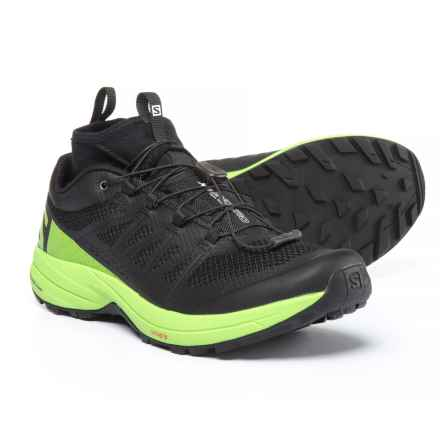Salomon XA Enduro Trail Running Shoes - Waterproof (For Men) in Black/Lime Green/Black - Closeouts