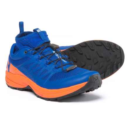 Salomon XA Enduro Trail Running Shoes - Waterproof (For Men) in Surf The Web/Flame/Black - Closeouts