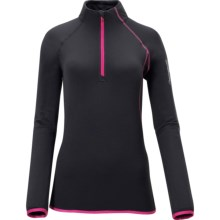 Salomon XA Midlayer HZ Fleece Jacket - Zip Neck (For Women) in Black - Closeouts