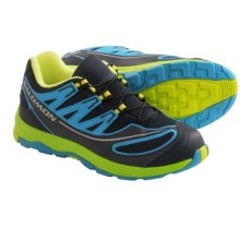 Salomon XA Pro 2 Trail Shoes (For Kids and Youth) in Deep Blue/Boss Blue/Green - Closeouts