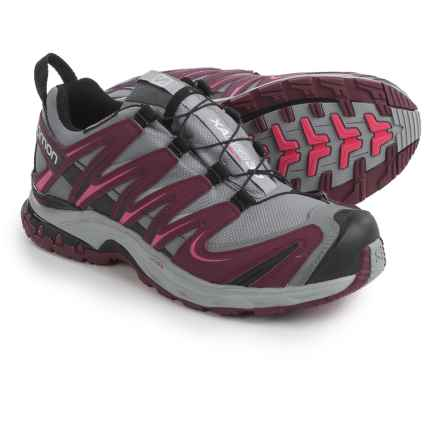 Salomon XA Pro 3D Climashield® Trail Running Shoes - Waterproof (For Women) in Grey/Bordeaux/Hot Pink - Closeouts