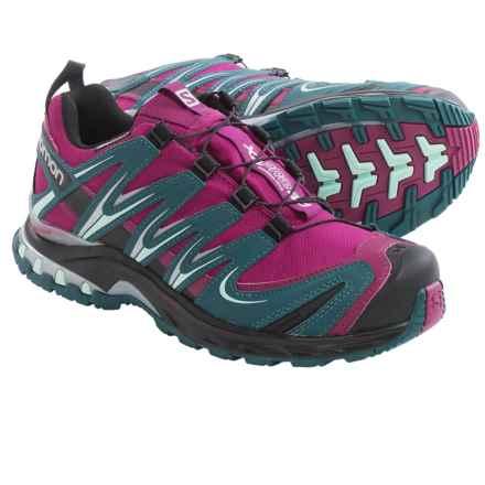 Salomon XA Pro 3D Climashield® Trail Running Shoes - Waterproof (For Women) in Mystic Purple/Cobalt Blue/Black - Closeouts
