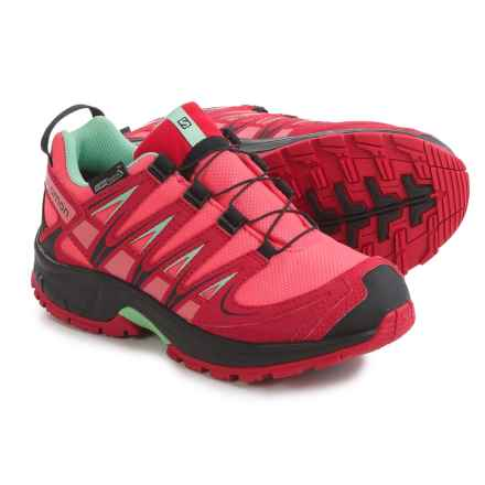 Salomon XA Pro 3D CSWP J Trail Running Shoes - Waterproof (For Big Girls) in Madder Pink/Lotus Pink - Closeouts