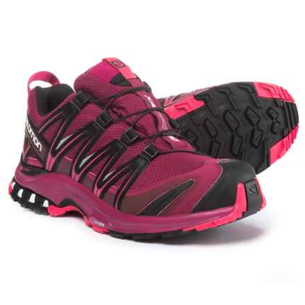 Salomon XA Pro 3D Gore-Tex® Shoes - Waterproof (For Women) in Beet Red/Sangria/Black - Closeouts