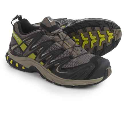 Salomon XA Pro 3D M+ Trail Running Shoes (For Men) in Swamp/Titanium/Seaweed Green - Closeouts