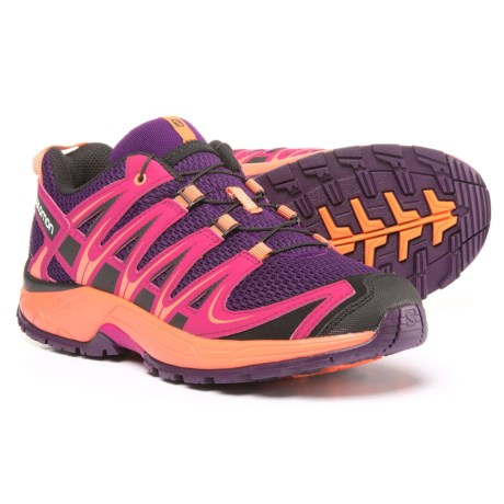 Salomon XA Pro 3D Running Shoes (For Girls) in Cosmic Purple/Deep Dalhi