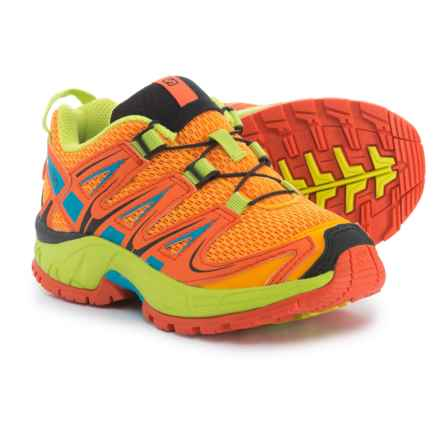 Salomon XA Pro 3D Trail Running Shoes (For Kids) in Bright Marigold/Flame/Lime Punch - Closeouts