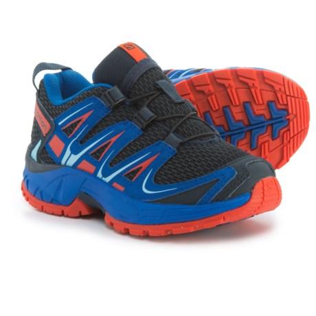 Salomon XA Pro 3D Trail Running Shoes (For Kids) in Deep Blue/Blue Yonder/Lava Orange
