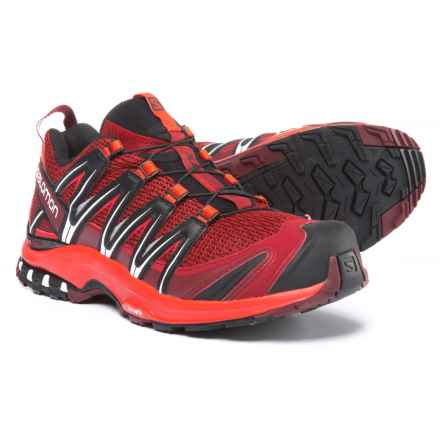 Salomon XA Pro 3D Trail Running Shoes (For Men) in Red Dalhia/Fiery Red/Black - Closeouts