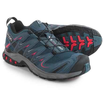 Salomon XA Pro 3D Trail Running Shoes (For Men) in Slate Blue/Detroit/Radiant Red - Closeouts