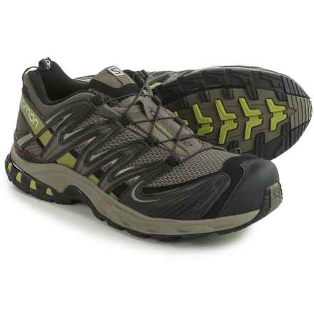 Salomon XA Pro 3D Trail Running Shoes (For Men) in Swamp/Dark Titanium/Seaweed Green - Closeouts