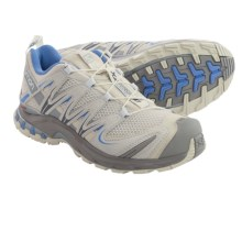 Salomon XA Pro 3D Trail Running Shoes (For Women) in Light Grey/Steel Grey/Petunia Blue - Closeouts