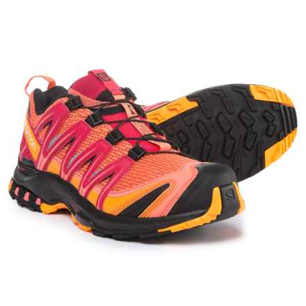Salomon XA Pro 3D Trail Running Shoes (For Women) in Living Coral/Black/Virtual Pink - Closeouts