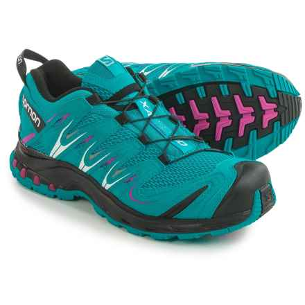 Salomon XA Pro 3D Trail Running Shoes - Quicklace (For Women) in Blue Jay/Black/Deep Dalhia - Closeouts