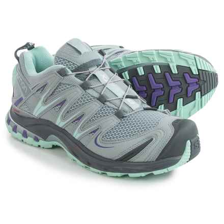 Salomon XA Pro 3D Trail Running Shoes - Quicklace (For Women) in Light Onix/Light Onix/Igloo Blue - Closeouts