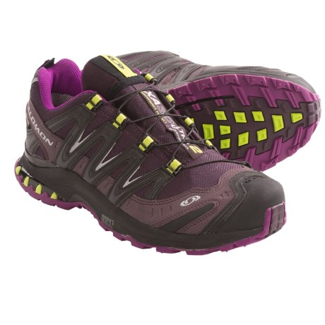 Salomon XA Pro 3D Ultra 2 Gore-Tex® Trail Running Shoes - Waterproof (For Women) in Dark Plumb/Very Purple/Pop Green