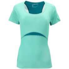 Salomon XA Shirt - Short Sleeve (For Women) in Celadon/Dark Bay Blue - Closeouts