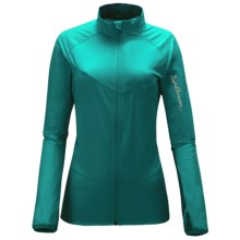 Salomon XA Smart Skin Jacket - Soft Shell (For Women) in Dark Bay Blue/Celadon - Closeouts